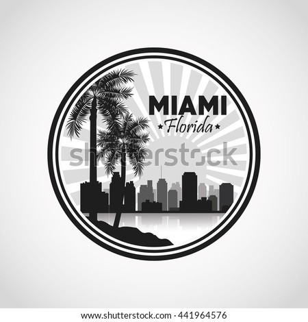 miami florida design palm tree