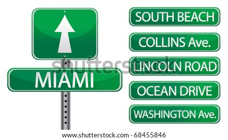 miami florida street signs