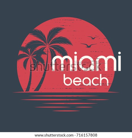 miami sunset t shirt and