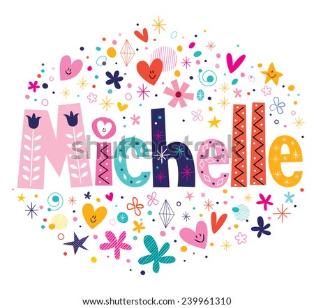 michelle name design