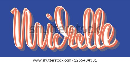 michelle woman's name 3d drop