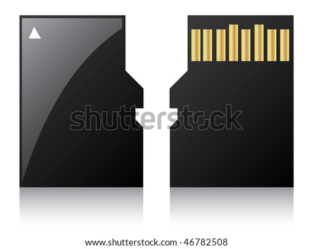 Micro sd card - stock vector