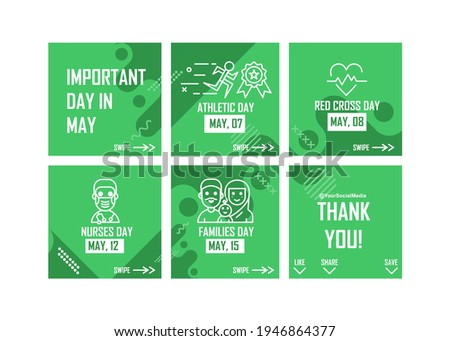 Microblog design about events in may. Easy to edit with vector file. Can use for your creative content. Especially about event reminder. ストックフォト ©