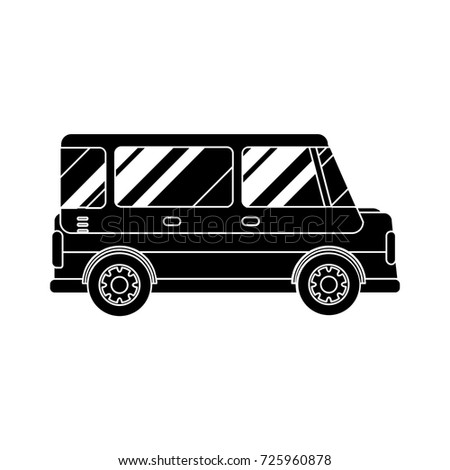 microbus flat icon