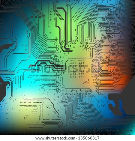 microchip background   close up
