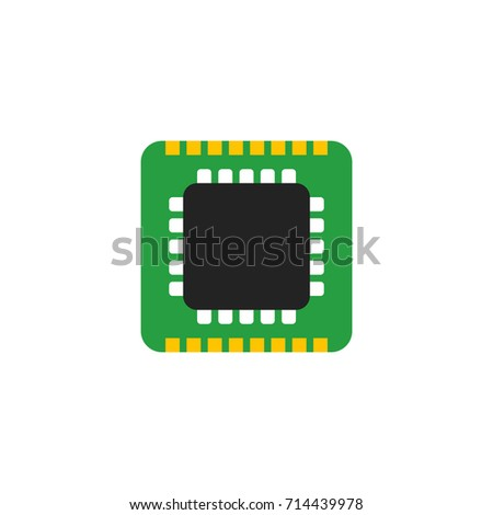 Microchip Icon Vector Isolated