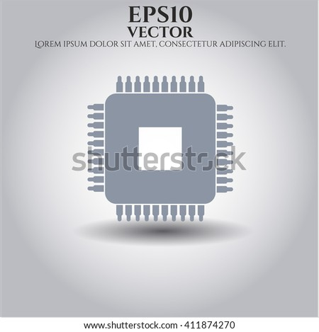 Microchip, microprocessor high quality icon