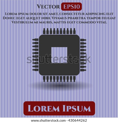 Microchip, microprocessor icon