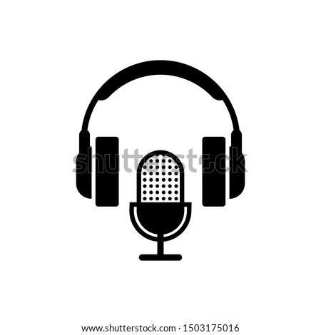 microphone and headphone icon