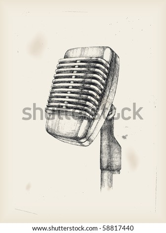 Microphone -drawing