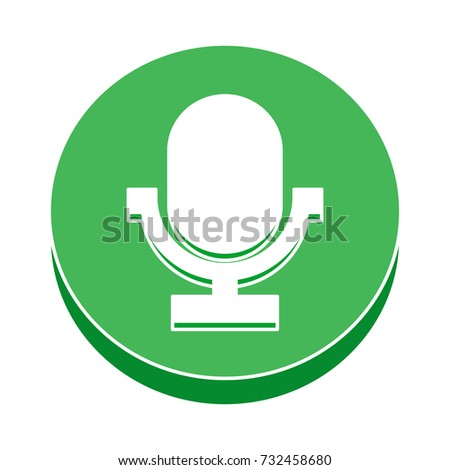 microphone flat icon