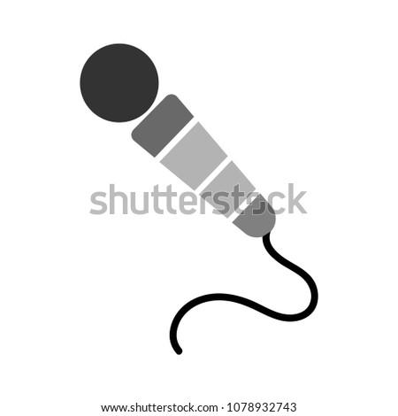 Microphone icon, communication icon, audio record mic