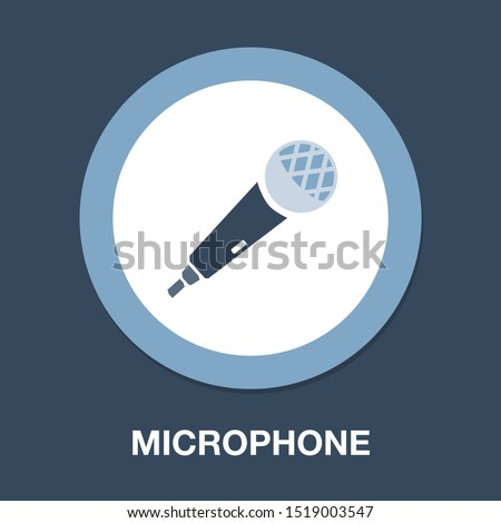 Microphone icon, communication icon, audio record mic ストックフォト ©