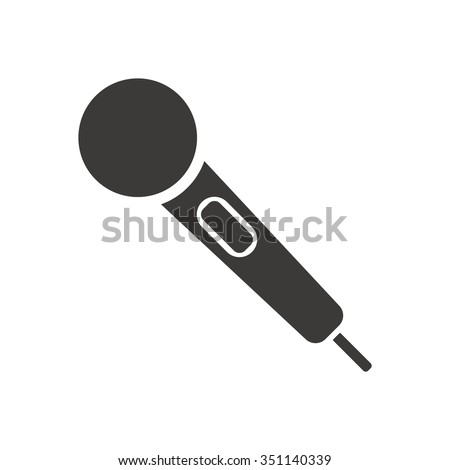 Microphone    icon,  isolated. Flat  design.
