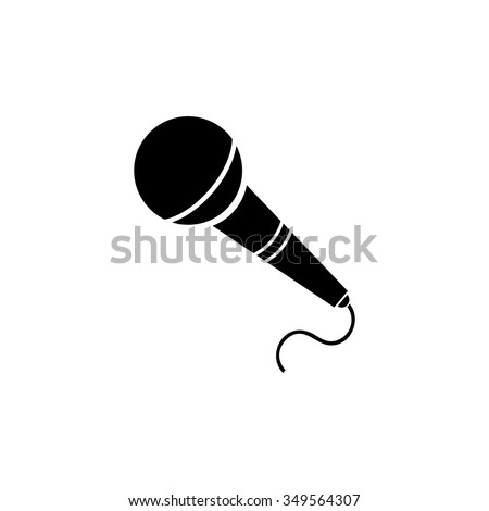 Microphone icon. Live music.
