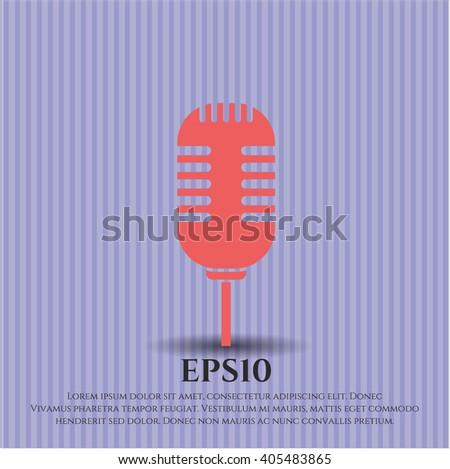 Microphone icon or symbol