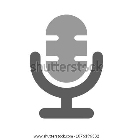 microphone icon - sound audio music illustration, communication concept
