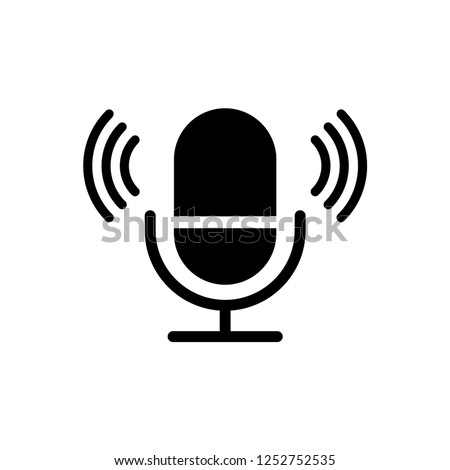 microphone icon trendy design template