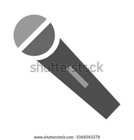 Microphone icon, vector audio illustration - sound music icon, studio speech symbol