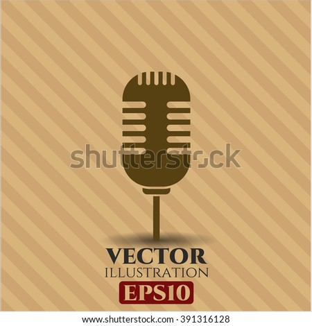 Microphone icon vector illustration