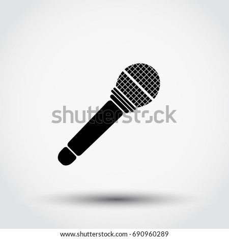 Microphone icon, vector illustration