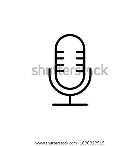 microphone icon vector. karaoke icon vector ストックフォト ©