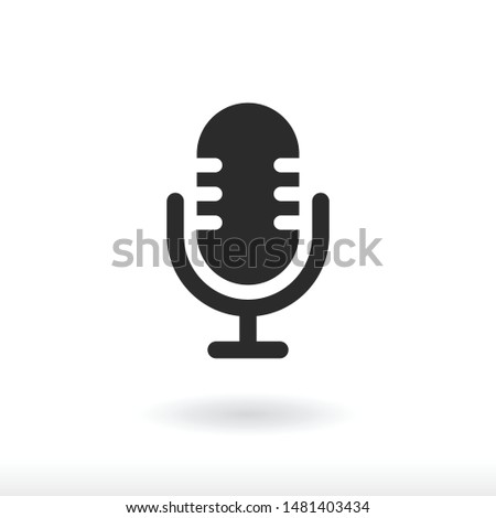 Microphone icon vector  Record symbol