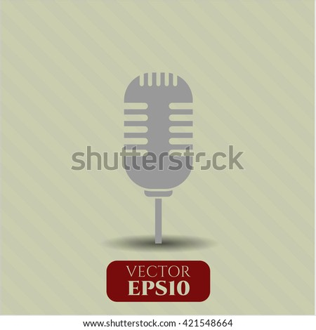microphone icon vector symbol flat eps jpg app web concept