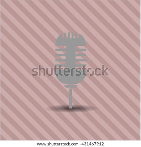 microphone icon vector symbol flat eps jpg app web concept