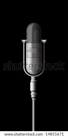 microphone metal on a black background