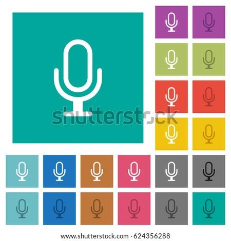 microphone multi colored flat