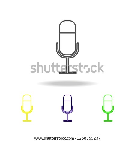 microphone multicolored icons