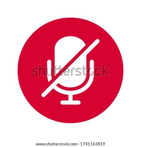 microphone mute icon isolated vector illustration. simple icon on white background. Сток-фото ©