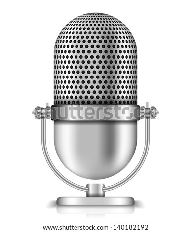 Microphone on white background, vector eps10 illustration