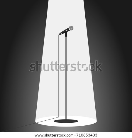 Microphone, standing microphone. Flat design, vector illustration, vector.