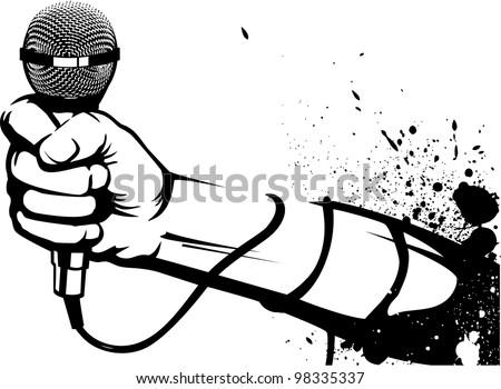 Microphone Stencil