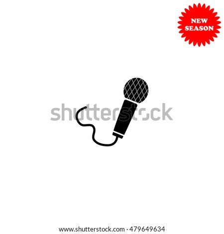 Microphone vector icon isolated on white background.