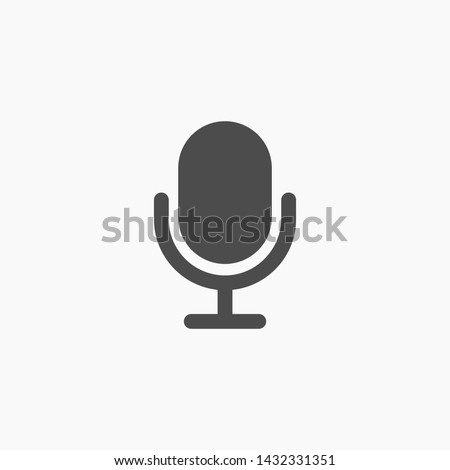 microphone vector icon  , Lorem ipsum Flat design