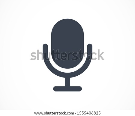 Microphone vector icon. Microphone for recording icon. the Microphone for the Studio icon. Microphone for voice recording. flat design icon.