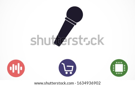 Microphone vector icon. Microphone for voice recording icon. Microphone for Studio icon . Microphone for karaoke icon