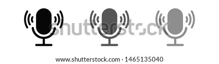 Microphone vector icon, Web design icon. Voice vector icon, Record. Microphone - recording Studio Symbol. Retro microphone icon
