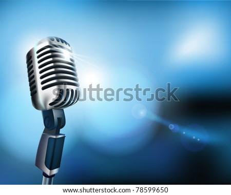 Microphone. Vector illustration.