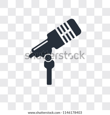 Microphone voice vector icon isolated on transparent background, Microphone voice logo concept