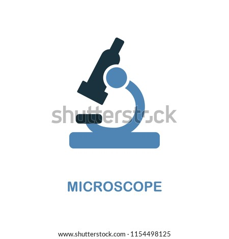 Microscope creative icon. Simple element illustration. Microscope concept symbol design from education collection. Can be used for web, mobile and print. web design, apps, software, print.