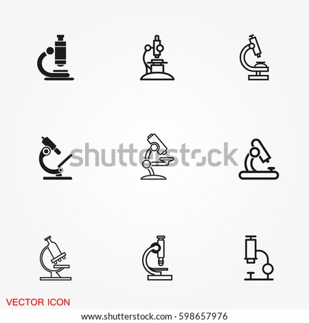 Microscope icons