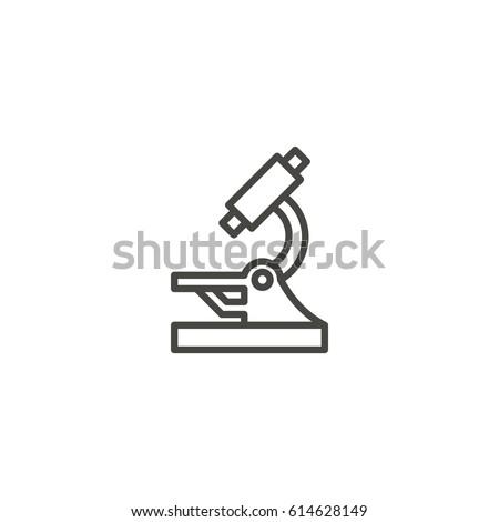microscope outline icon vector