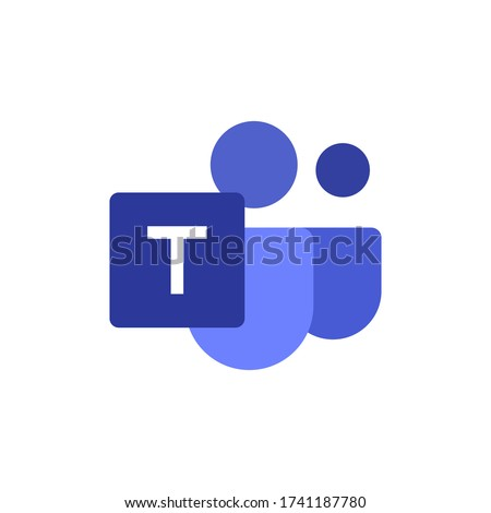 Microsoft Teams logo,remote working application symbol,Microsoft Teams icon