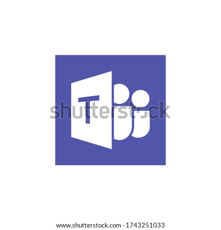 Microsoft Teams logo,remote working application symbol,Microsoft Teams icon