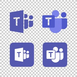 Microsoft Teams logo,remote working application symbol,Microsoft Teams icon set.Microsoft Teams, also referred to as simply Teams.