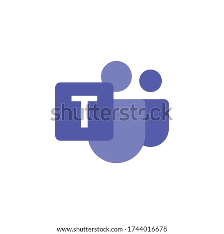 Microsoft Teams logo, remote working application symbol. Microsoft Teams vector sign, modern and simple logo illustration.